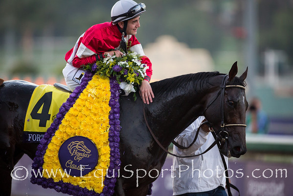 Fort Larned (E Dubai) wins the Breeders' Cup Classic at Santa Anita Park on 11.3.2012. Brian Hernandez up, Ian Wilkes trainer, Janis Whitham owner.