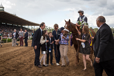 Main Sequence (Aldebaran) wins The Breeders' Cup Turf at Santa Anita on 11.1.2014. Johnny Velazquez up, Graham Motion trainer, Flaxman Holding owners.