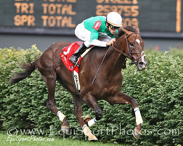 Remarkable News, with Ramon Dominguez up, wires the Firecracker Handicap at Churchill Downs, Louisville, Ky. 6.30.07