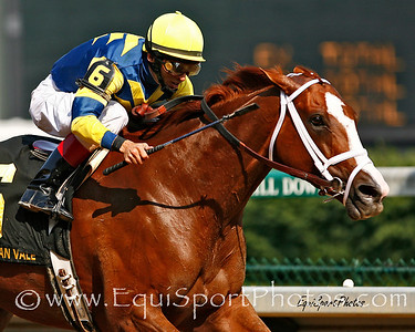 Indian Vale, with John Velazquez up, wins the Fleur De Lis Handicap at Churchill Downs, Louisville, Ky. 6.16.2007