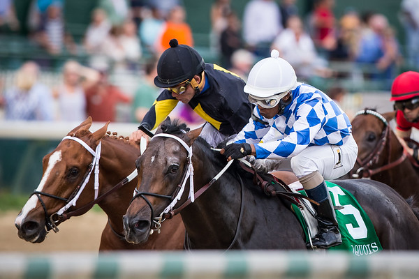 Lucky Player (Lookin At Lucky) wins the Iroquois (G3) Stakes at Churchill Downs on 9.6.14. Ricardo Santana Jr up, Jerry Durant owner, Steve Asmussen trainer.