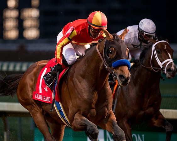 Hoppertunity (Any Given Saturday), Martin Garcia up, wins the G1 Clark Handicap at Churchill Downs 11.28.14. Trainer: Bob Baffert, Owners: Pegram, Watson and Weitman.