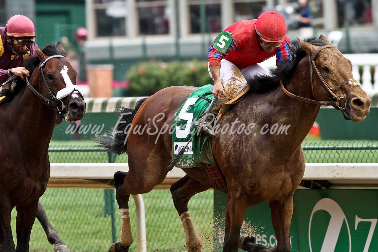 Bulls Bay (Tiznow), Jeremy Rose up, wins the Alysheba Stakes at Churchill Downs 05.01.2009jb (EquiSport Photos)