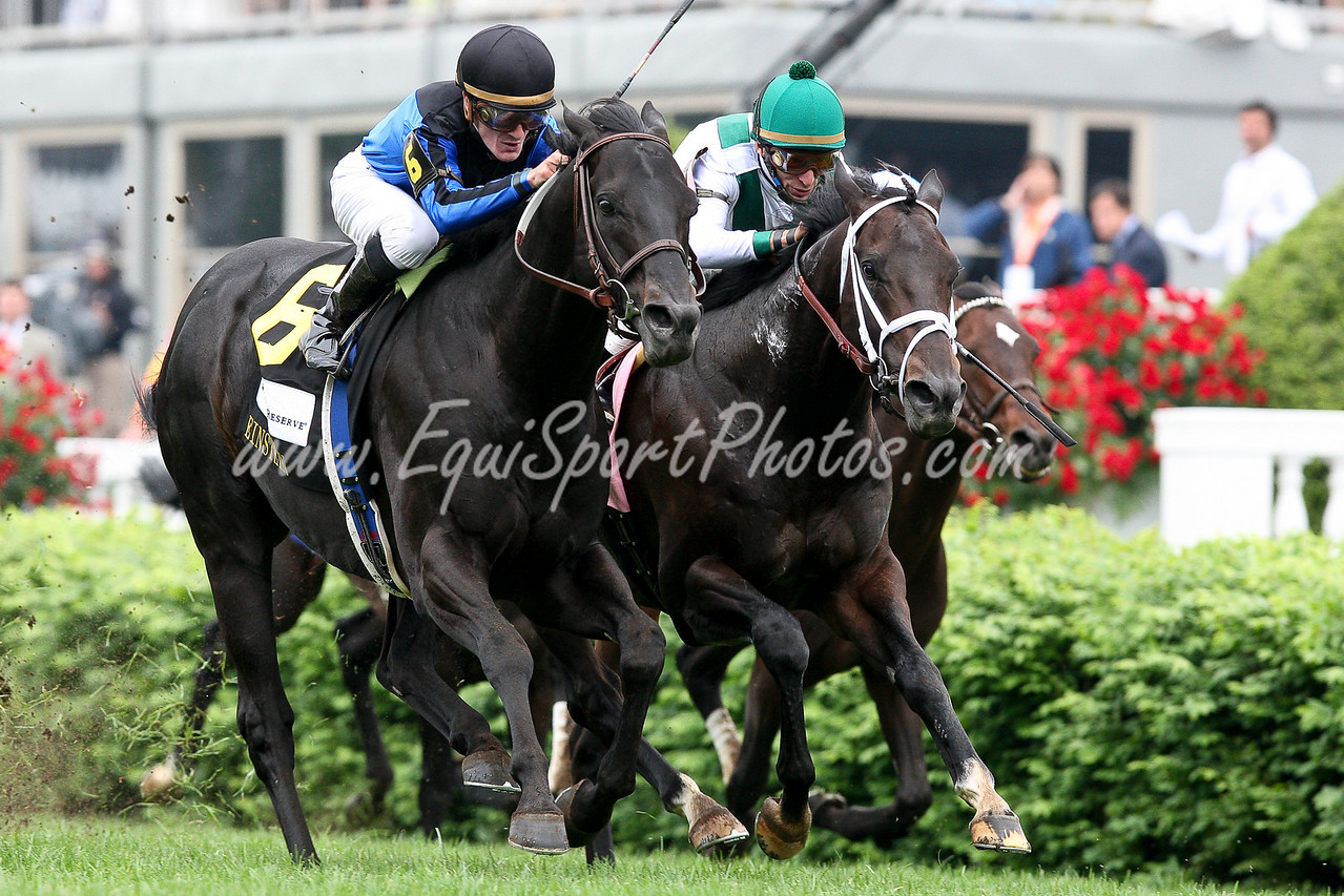Einstein wins the Woodford Reserve Turf Classic (Gr. I). Ridden by Julien Leparoux, owned by Midnight Cry Stable and trained by Helen Pitts-Blasi. 05.02.09