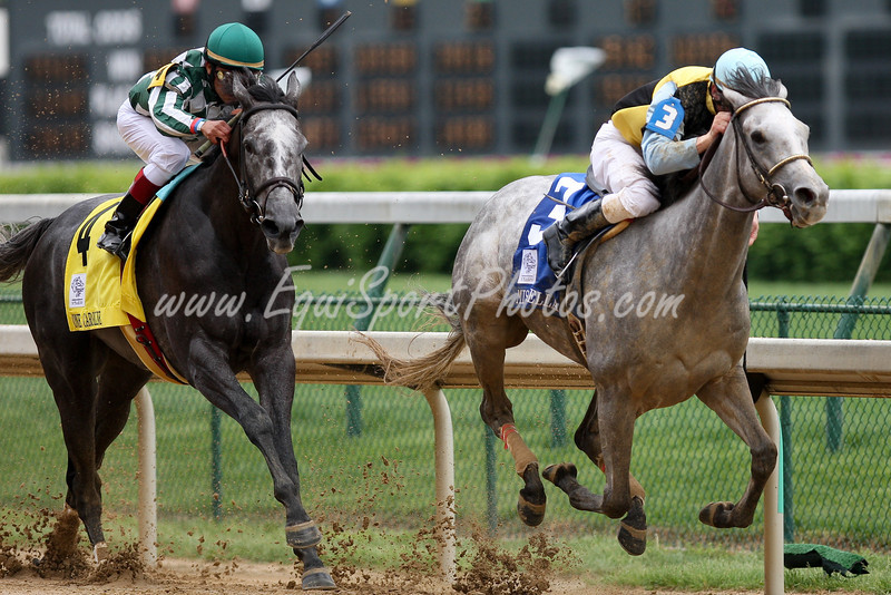 Miss Isella wins the Louisville Distaff (Silver Charm) with Calvin Borel up.  Owned by Domino Stud of Lexington and trained by Ian Wilkes.