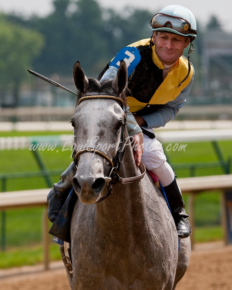 Miss Isella (Silver Charm), Calvin Borel up, wins the Fleur De Lis H. (G2) at Churchill Downs 6.13.2009mw (EquiSport Photos)