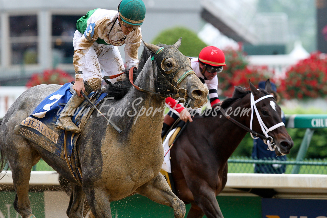 informed Decision wins the Humana Distaff. Ridden by Julien Leparoux , owned by Augustin Stable and trained by Jonathan Sheppard.  05.02.09