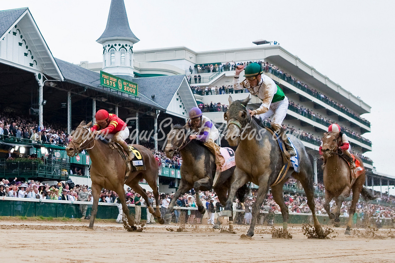Informed Decision (Monarchos), Julien Leparoux up, wins the Humana Distaff Stakes at Churchill Downs 05.02.2009mw (EquiSport Photos)