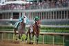 Authenticity (Quiet American) and jockey John Velazquez win the La Troienne