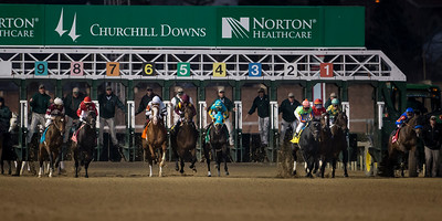 The start of the Clark Handicap at Churchill Downs on 11.29.2013