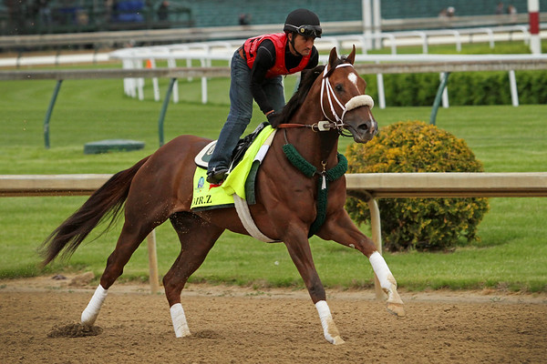 Mr. Z (Malibu Moon) trains for the Kentucky Derby (Gr I) at Churchill Downs 4/30/15. Trainer: D. Wayne Lukas. Owner: Zayat Stables
