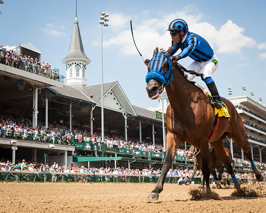 Private Zone (Macho Uno), Martin Pedroza up, wins the G2 Churchill Downs. Trainer: Jorge Navarro, Owner: Good Friends Stable.