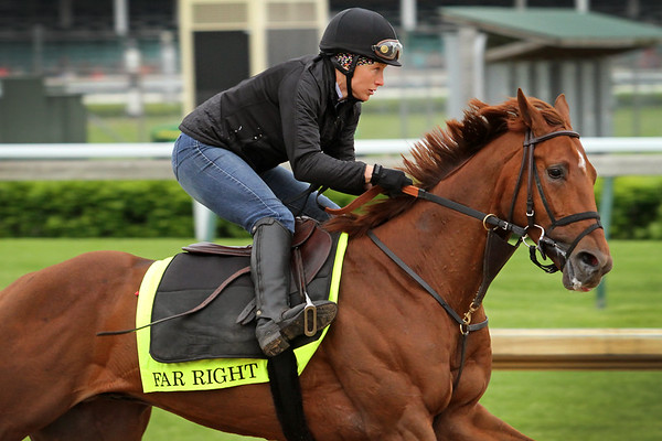 Far Right (Notional) trains for the Kentucky Derby (Gr I) at Churchill Downs 4/30/15. Trainer: Ronald Moquett. Owner: Harry Rosenblum