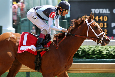 Curalina (Curlin) and jockey John Velazquez win the La Troienne (Gr I) at Churchill Downs 5/6/16. Trainer: Todd Pletcher. Owner: Eclipse Thoroughbred Partners