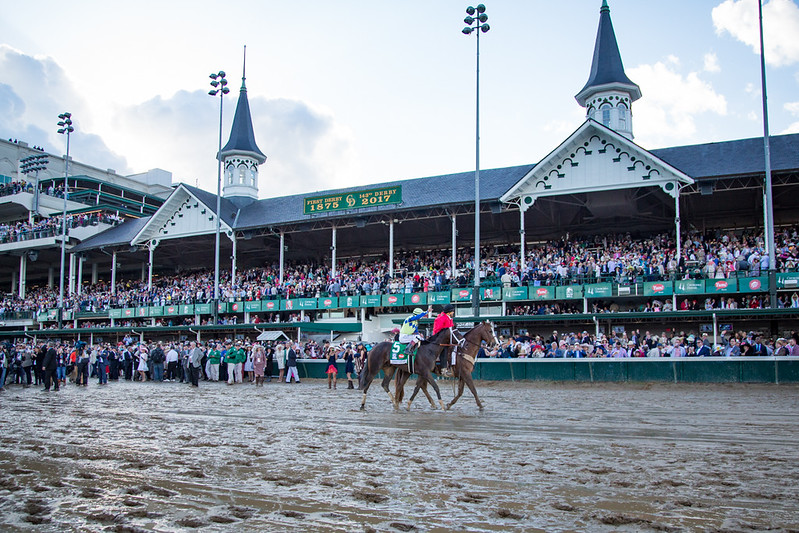 Always Dreaming (Bodemeister) wins the Kentucky Derby at Churchill Downs on 5.6.2017. John Velazquez up, Todd Pletcher trainer,  MeB Racing, Brooklyn Boyz, Teresa Viola, St Elias, Siena Farm and West Point owners