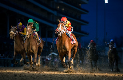BodExpress(Bodemeister) wins the Clark Stakes (G1) at Churchill Downs on 11.27.2020. Rafael Bejarano up,Gustavo Delgado trainer,  Top Racing, LLC (Lucas Noriega), Global Thoroughbred (Rafael Celis) and GDS Racing Stable (Gustavo Delgado) owners.