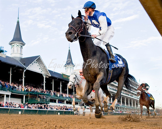 Einstein (Spend a Buck), Julien Leparoux up, wins the Clark H. (G2) at Churchill Downs 11.28.2009mw ( Horse Racing Photos by EquiSport Photos )