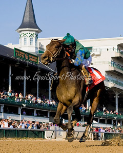 Sara Louise (Malibu Moon), Robby Albarado up, wins the Pocahontas S. (G3) at Churchill Downs 11.01.2008mw ( Horse Racing Photos by EquiSport Photos )
