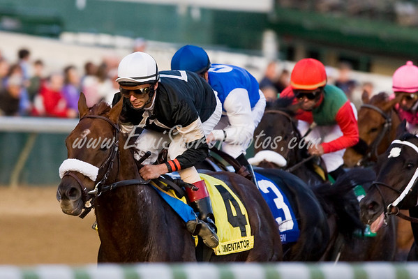 Commentator (Distorted Humor), John Velazquez up, runs in the Clark H. (G2) at Churchill Downs 11.28.2009mw ( Horse Racing Photos by EquiSport Photos )