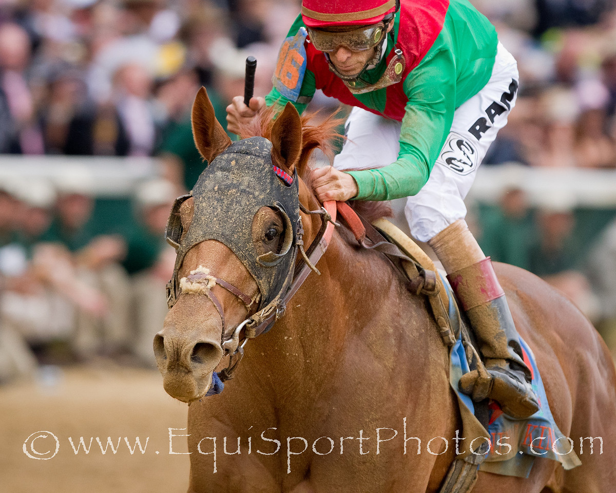 Animal Kingdom (Leroidesanimaux), John Velazquez up, wins the Kentucky Derby at Churchill Downs 5.07.2011mw. Trainer - Graham Motion, Owner - Team Valor (Barry Irwin)