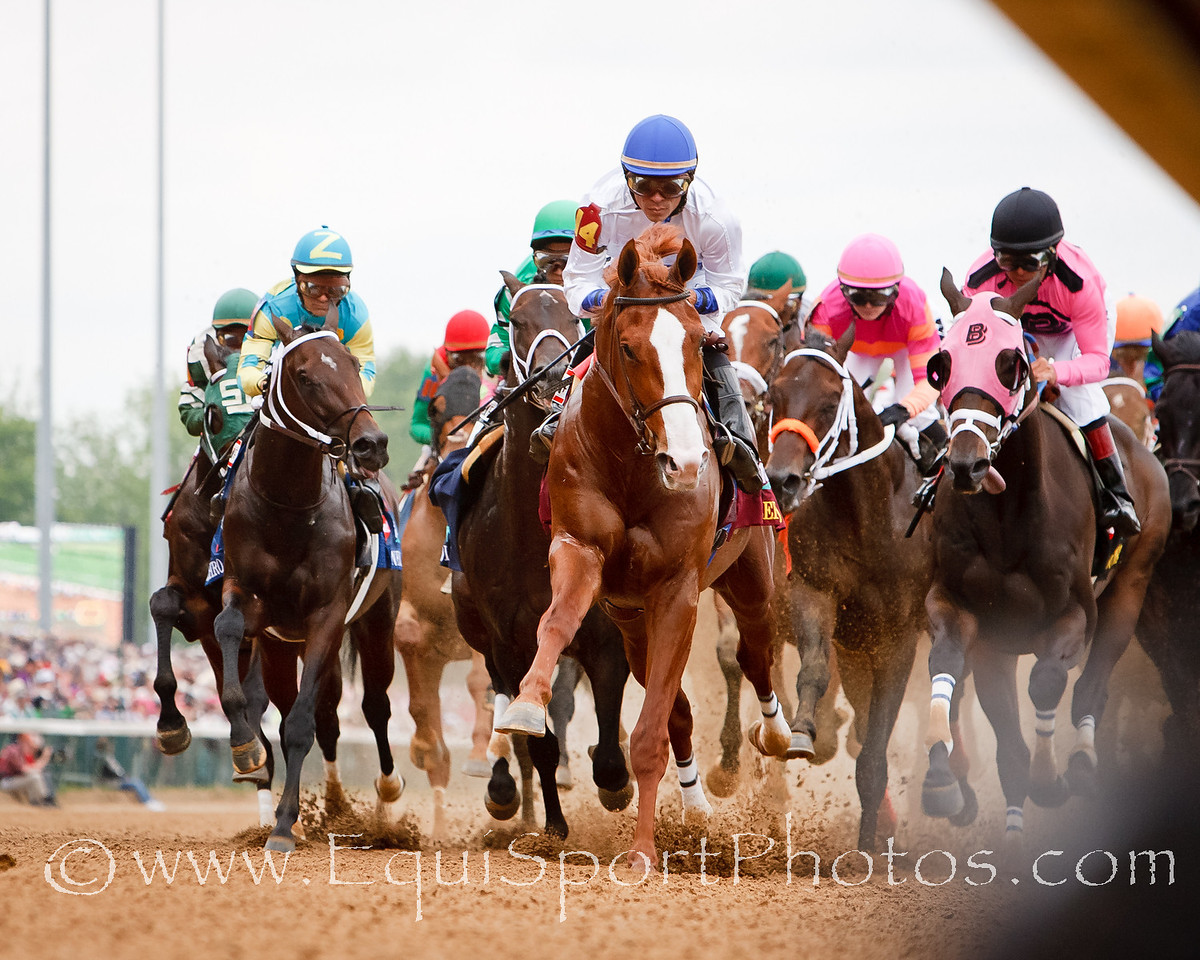 Shackleford leads feild first time by the wire in the Kentucky Derby at Churchill 5.07.2011mw.