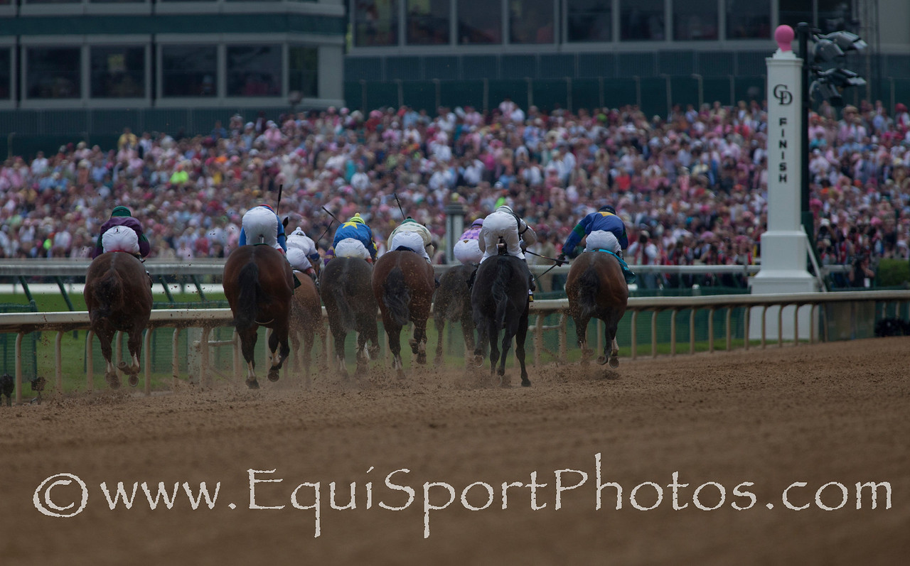 Homestretch during The Eight Belles (G3) race at Churchill Downs 05.06.11.