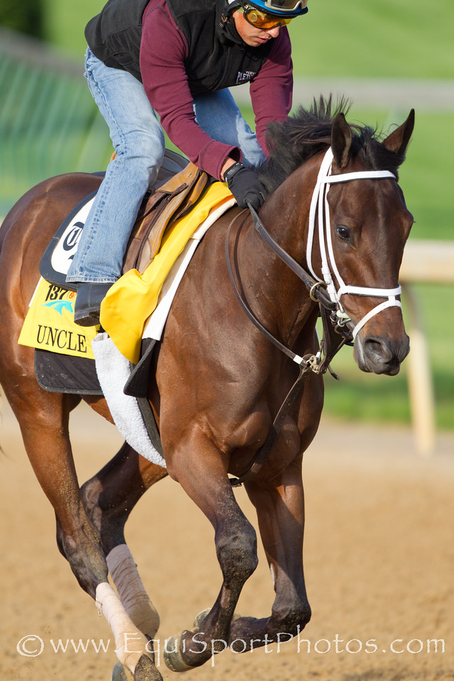 Uncle Mo gallops at Churchill Downs on 4.28.2011
