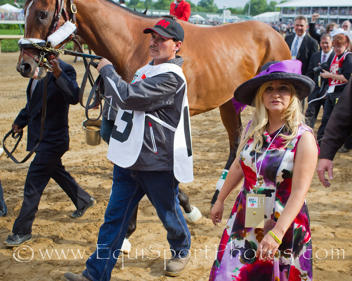 Mucho Macho Man and Kathy Ritvo on the walk over for the Kentucky Derby 05.07.2011