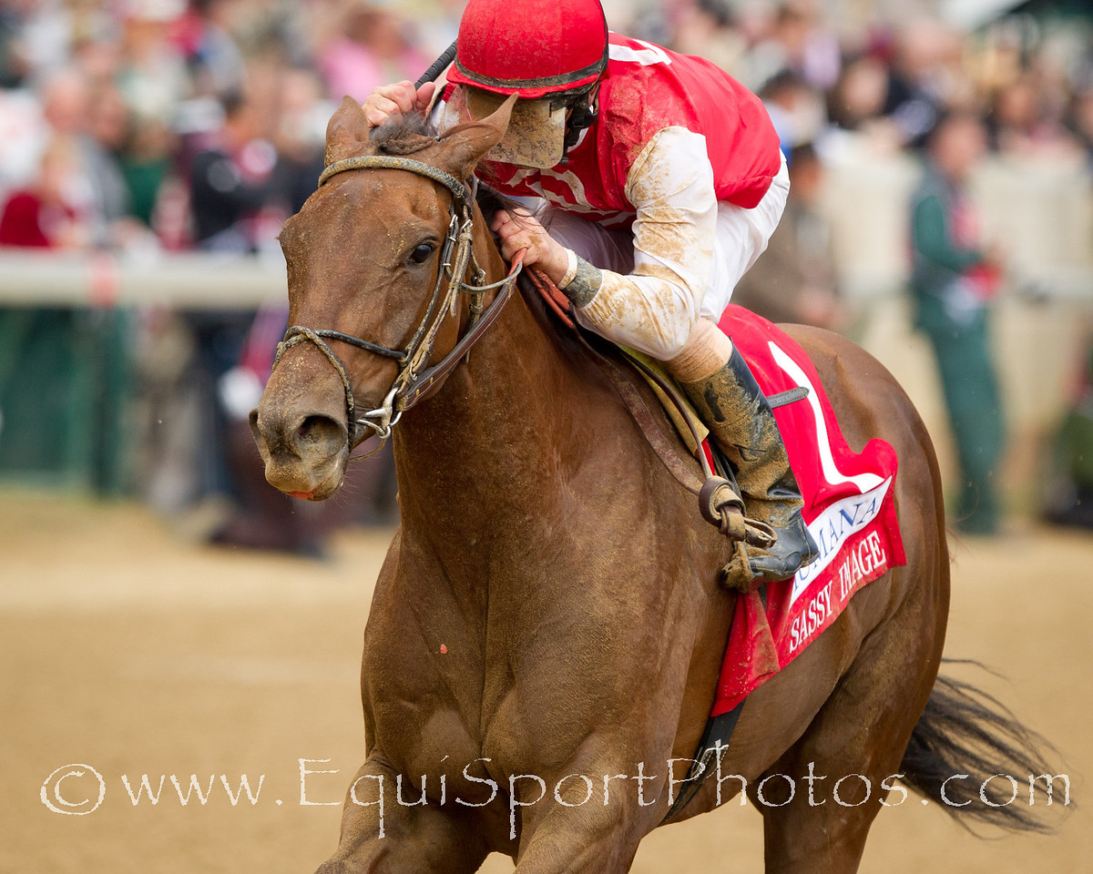 Sassy Image (Broken Vow), Robby Albarado up, wins the Humana Distaff at Churchill 5.07.2011mw. Trainer - Dale Romans, Owner - Jerry Romans.