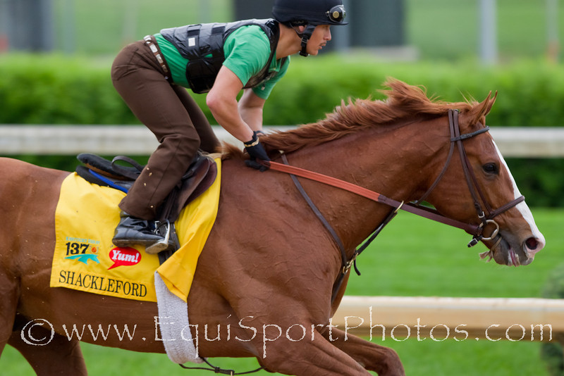 Shackleford gallops at Churchill Downs 4.26.2011