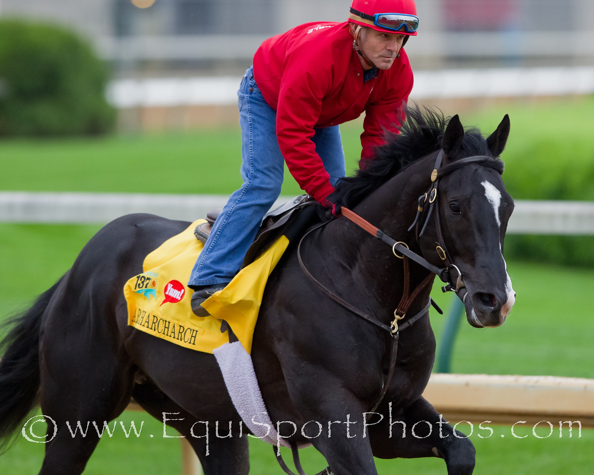 Archarcharch gallops at Churchill Downs 4.26.2011