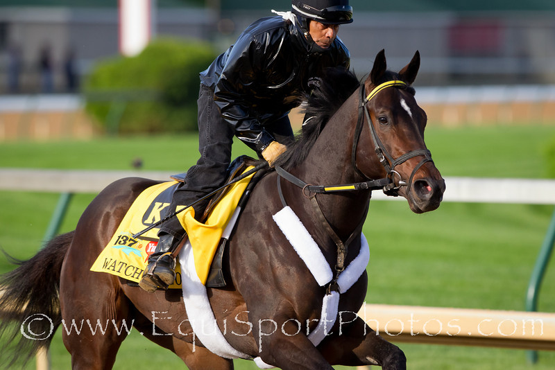 Watch Me Go gallops at Churchill Downs 4.28.2011