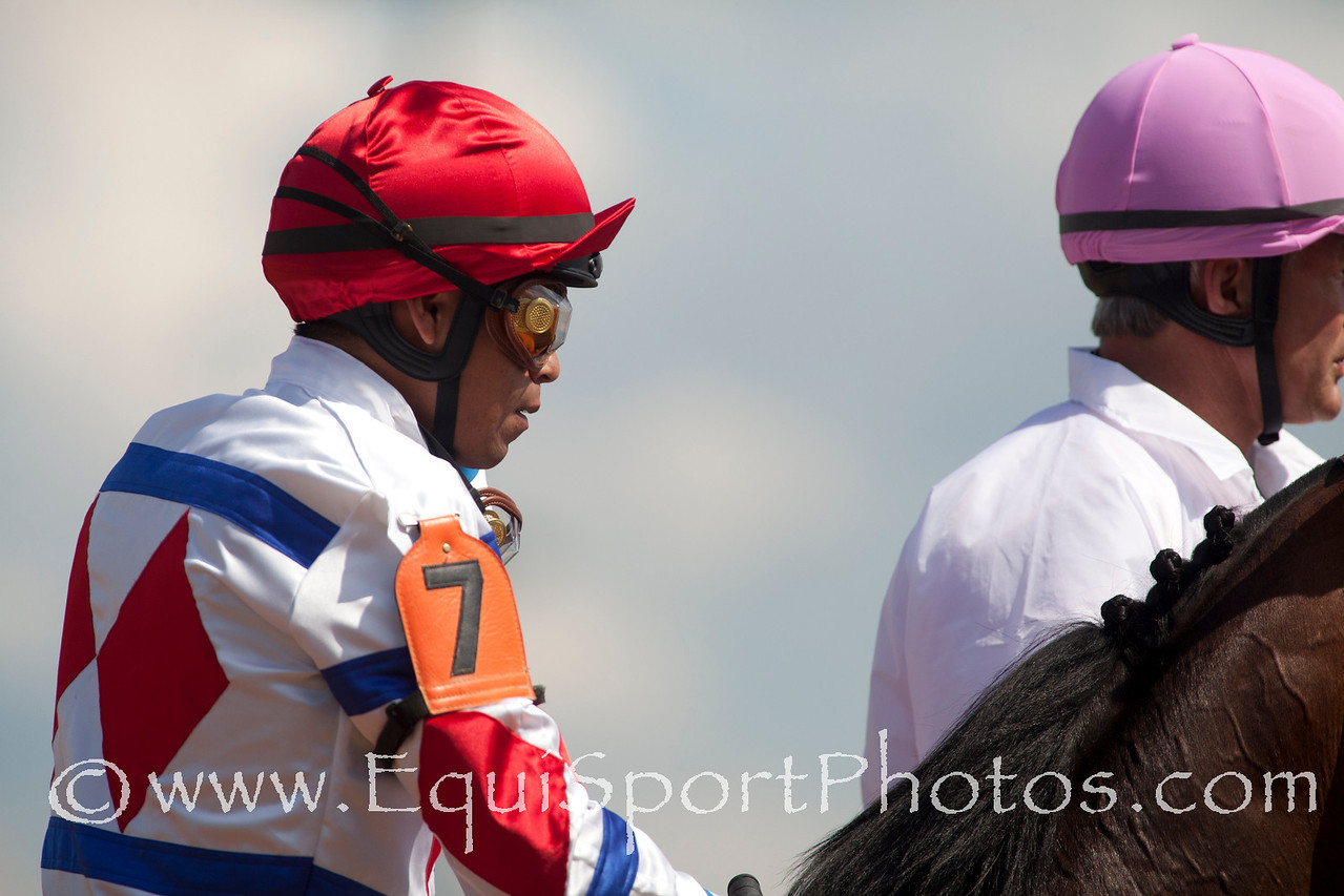Jockey Martin Garcia aboard First Dude (Stephen Got Even)prior to the running of The Alysheba (G3) race at Churchill Downs 05.06.11.
