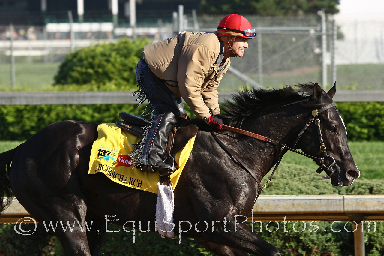 Archarcharch gallops at Churchill Downs 5/5/11.