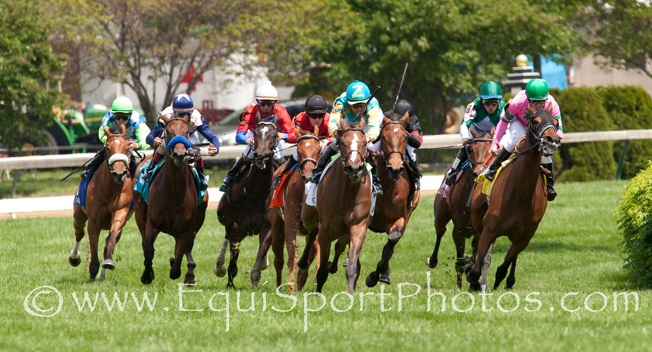Diva Ash (Tapit) leads coming out of the turn during The Edgewood Stakes at Churchill Downs 05.06.11.