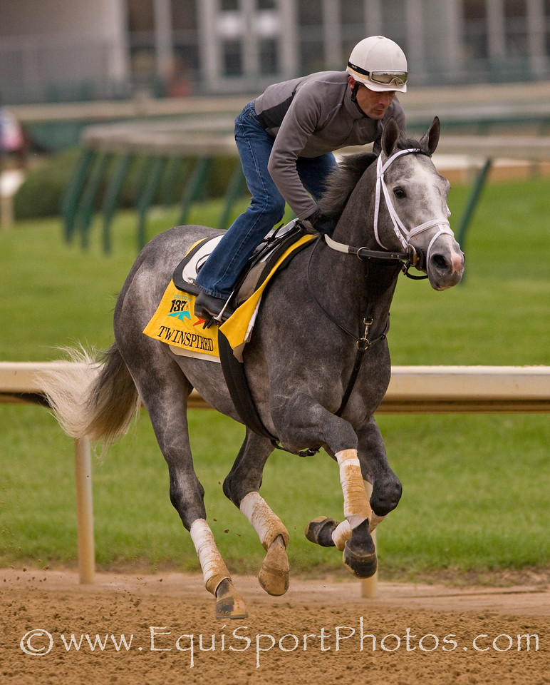 Twinspired gallops at Churchill Downs 5/4/11.