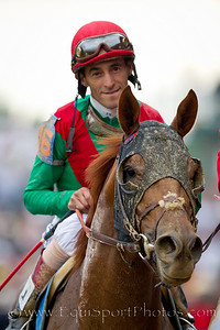 Johnny Valezquez, jockey, on Animal Kingdom.