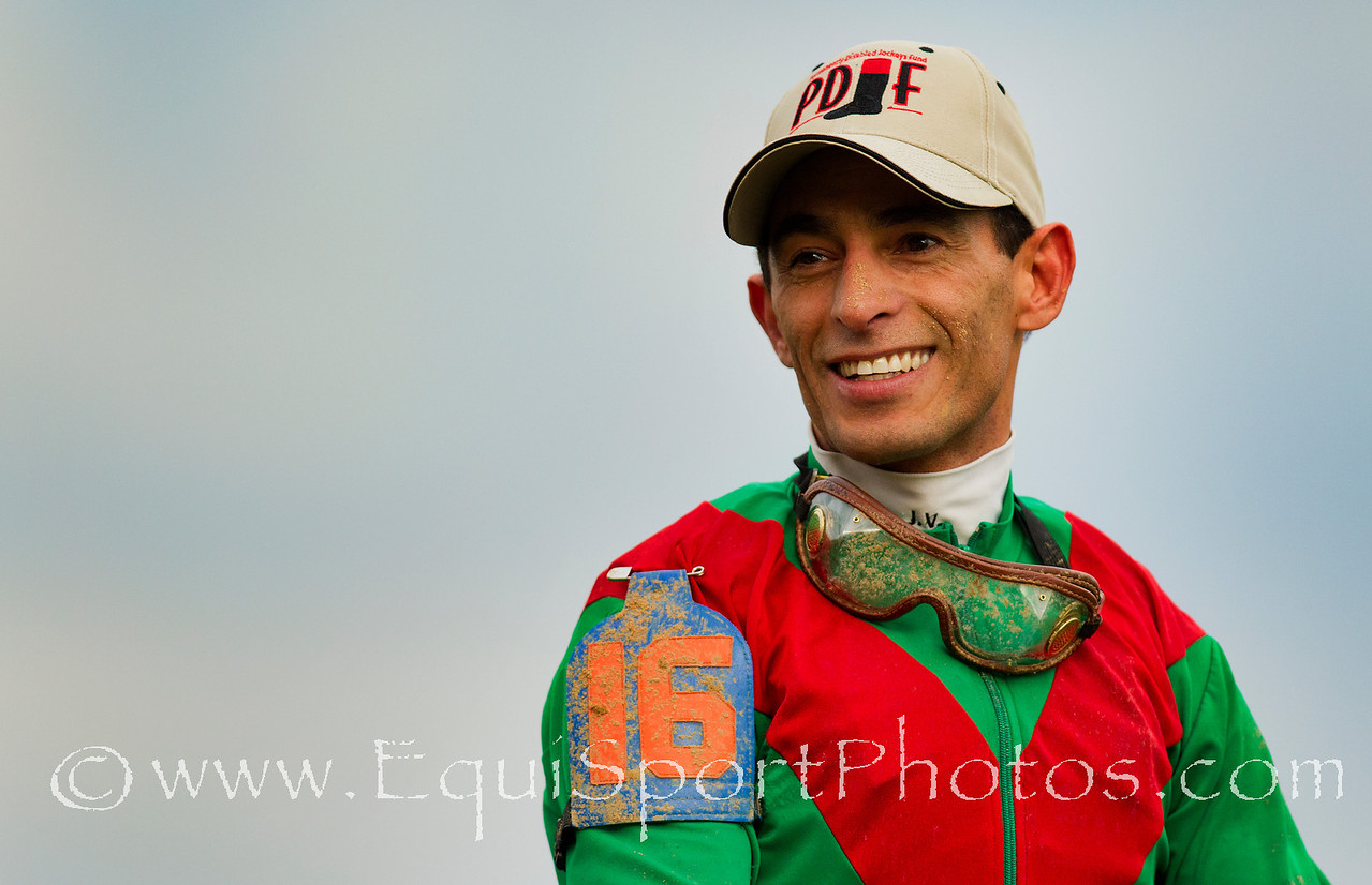 John Velazquez after winning the Kentucky Derby at Churchill Downs, Louisville KY. May 7, 2011. Credit: Alex Evers/EquiSport Photos