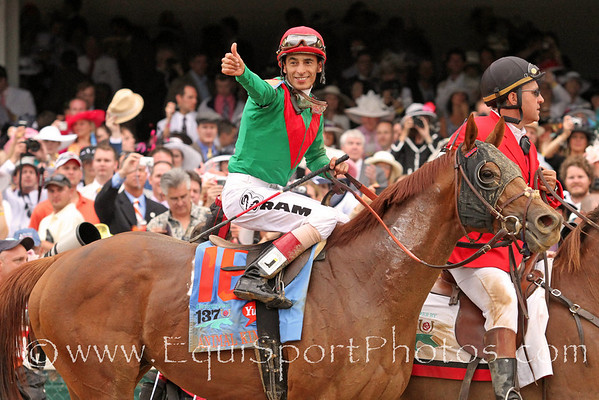 Animal Kingdom (Leroidesanimaux) and jockey John Velazquez win the Kentucky Derby (Gr. I) at Churchill Downs 5/7/11JH.