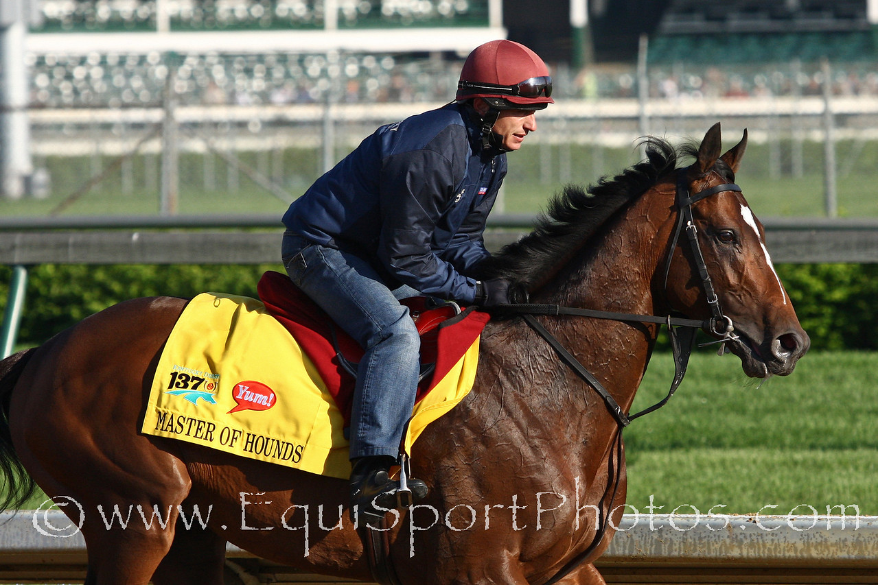 Master of Hounds gallops at Churchill Downs 5/5/11.