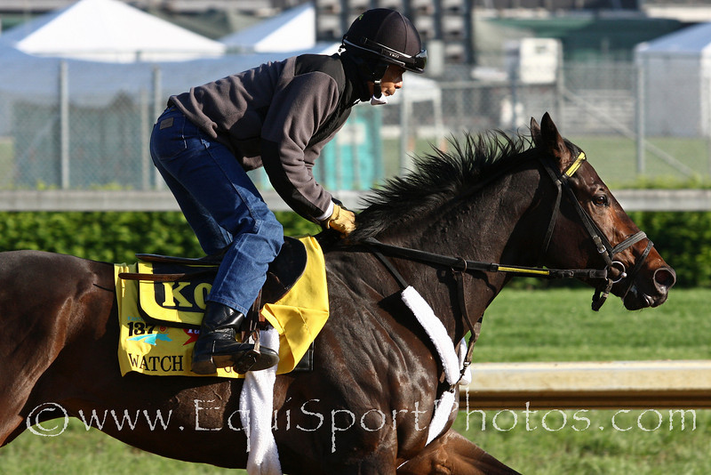 Watch Me Go gallops at Churchill Downs 5/5/11.