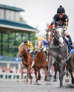 Positive Split (Repent), Robby Albarado up, wins a Maiden Special Weight at Keeneland 10.31.2009mw