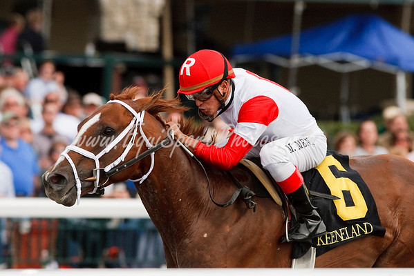 Wisdom Walk (Smart Strike), Miguel Mena up, wins a Claiming race at Keeneland 10.29.2009mw