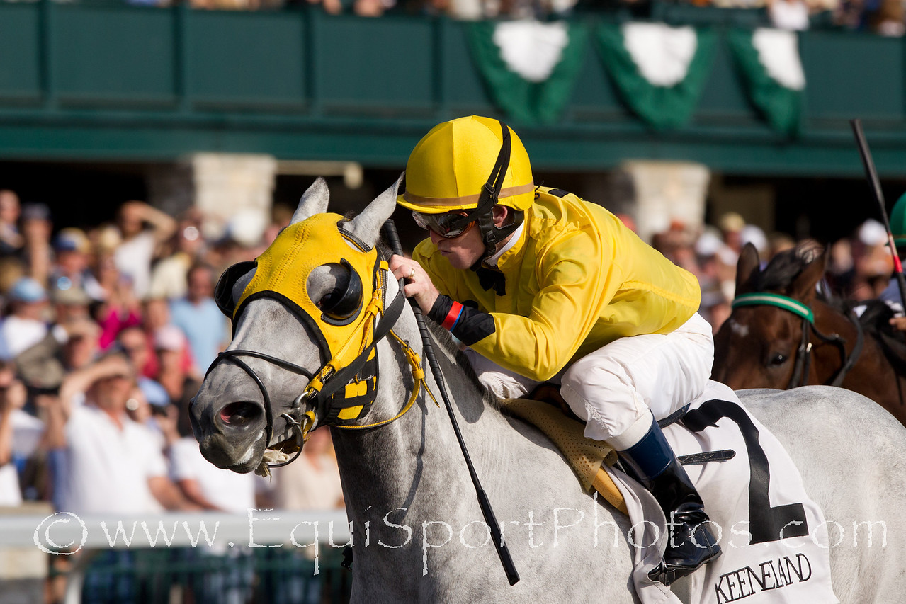 Truely Amazing (Wekiva Springs), James Graham up, wins an Allowance at Keeneland 10.24.2010mw