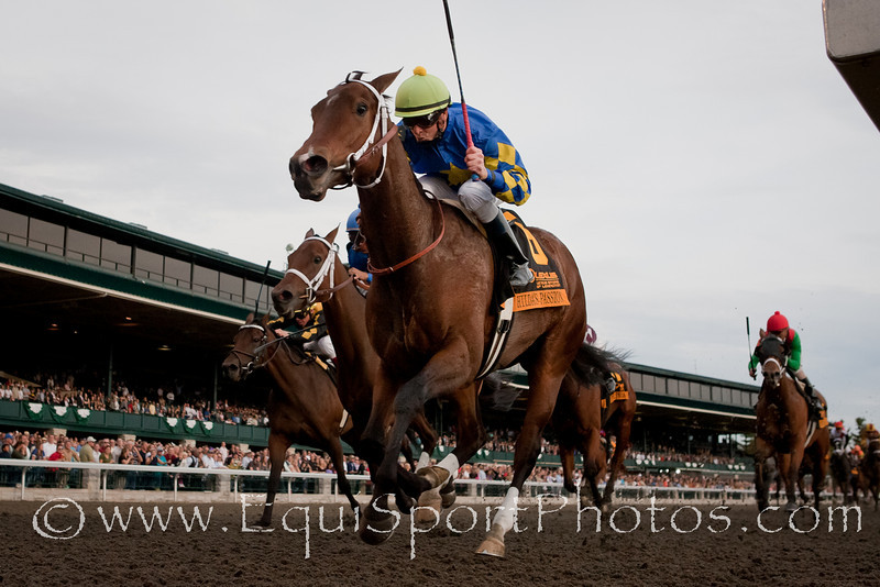 Hilda's Passion (Canadian Frontier), Corey Lanerie up, wins the Lexus Raven Run S. (G2) at Keeneland 10.23.2010mw