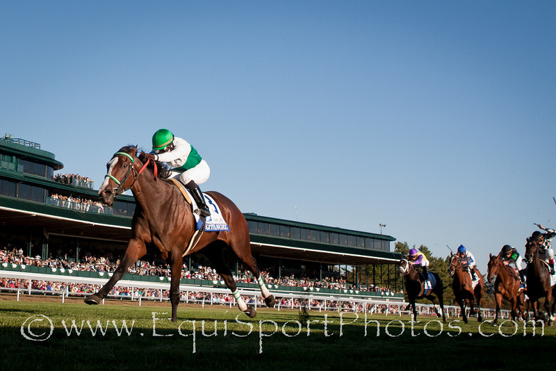 Fugitive Angel (Alphabet Soup), Rosie Napravnik up, wins Pin Oak Valley View S. (G3) at Keeneland 10.22.2010