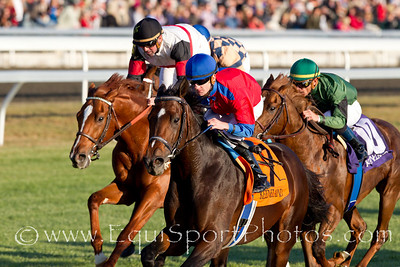 Bigshot (Limehouse), Julien Leparoux up, wins an Allowance at Keeneland 10.29.2010