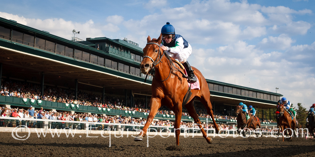 Flash Mash (Smarty Jones), Robby Albarado up, wins an MSW at Keeneland 10.24.2010mw