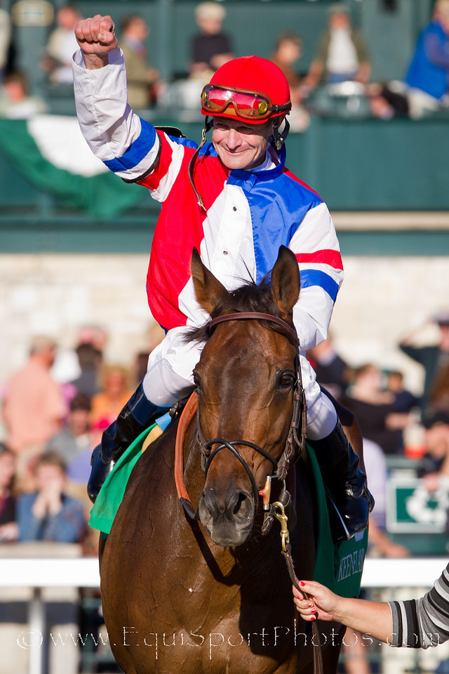 Brass Hat (Prized), Calvin Borel up, wins the Sycamore S. at Keeneland 10.21.2010.