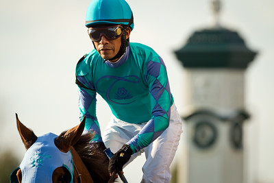 Edgar Prado at Keeneland on 10.29.2011